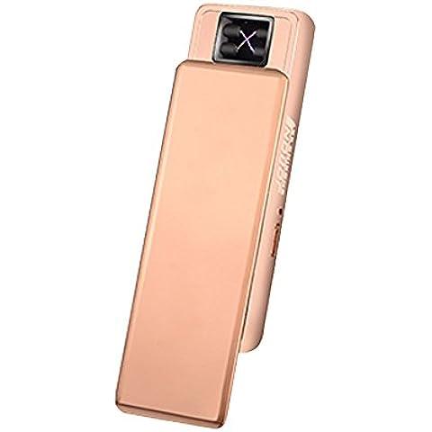 Jobon Exquisite Lady doppio arco accendisigari zb-388USB batteria antivento senza fiamma con spazzola per pulizia e confezione regalo Gold