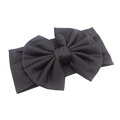 MIRRAY Süß Bonbonfarbenen Haarschmuck Kinder Bogen Knoten Retro Baby Bequem Stirnband Schleife Neues Haarband Schwarz