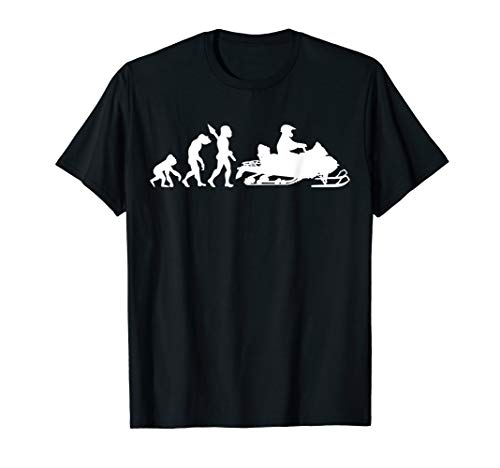 Schneemobil Motorschlitten Schneemotorrad Evolution Humor T-Shirt