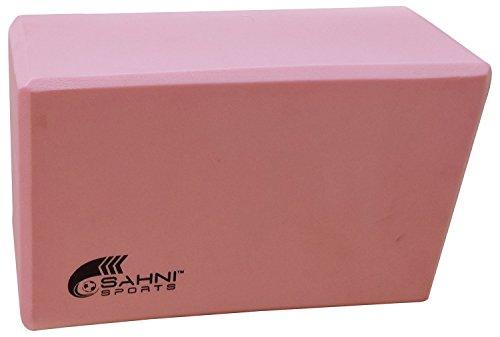 Sahni Sports Foam Brick Yoga Blocks, 9 x 6 x 3 inches (Pink)