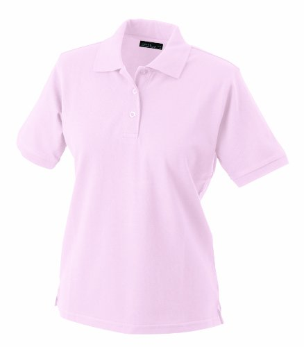 James & Nicholson Damen Ladies' Polo Poloshirt, (rosa), Medium - Rosa Baumwolle Polo-shirt