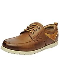Buckaroo TRAVON-Brown Men's Leather Casual - 42 EU / 8 US Men