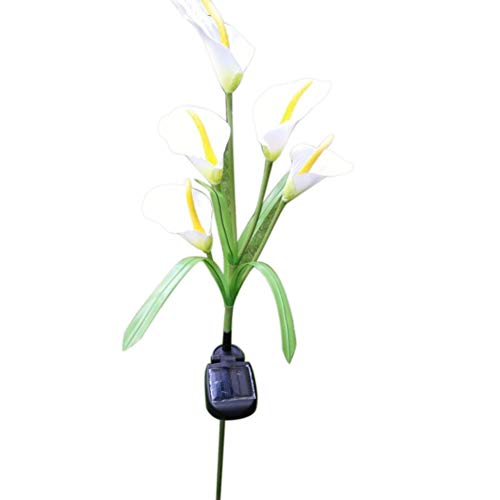 Lsgepavilion 5 LED Calla Blume Licht Outdoor Solarlampe Hofrasen Garten Weglampe -