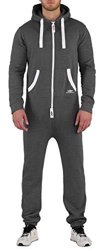 Survêtement Finchman pour homme - Combinaison de jogging une pièce - Motif camouflage - Gris - XL
