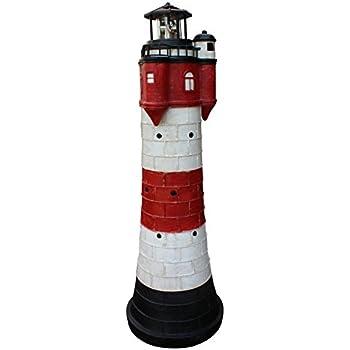 leuchtturm roter sand mit solar beleuchtung rundum leuchtfeuer 80cm maritime deko garten. Black Bedroom Furniture Sets. Home Design Ideas