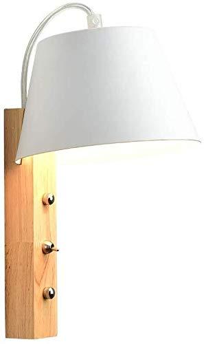 HJXSXHZ366 Retro Mini lámpara de Pared lámparas de Pared de TV, Sala de Estar Enciende Las Luces de Madera Maciza, sin Cita previa