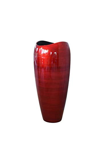 """Pflanzkübel Pflanzgefäß Bodenvase exklusiv \""""Deluxe\"""" Rot Schwarz Hochglanz 100 x 45 cm"""