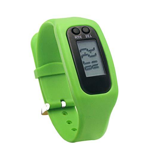 Fitness Tracker, Aktivitätstracker, Pedometer, Schrittzähler, Kalorienzähler, Entfernungs-Rechner und Sport-Uhr. Kein Bluetooth, Keine APPs, Leichte Einstellungen (Grün)