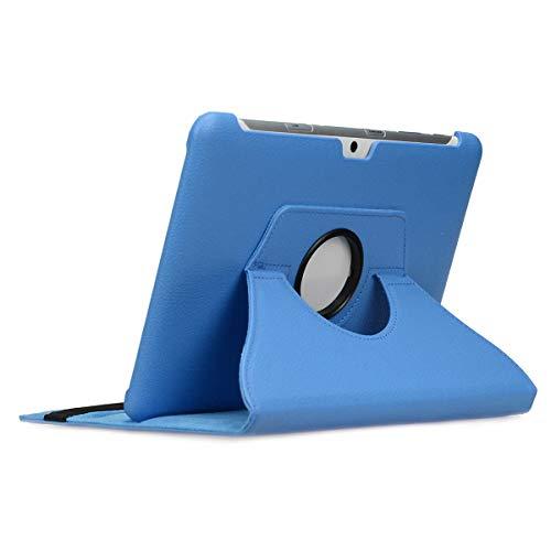 doupi Deluxe Custodia per Samsung Galaxy Tab 2 (10,1 pollici), 360 Gradi Rotable Protezione con Smart Funzione Sleep/Wake Up Etui Stare in Piedi Protettiva, Blue