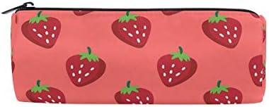 Bonipe Starwberry Motif Trousse Pochette Sac d'école papeterie papeterie papeterie Pen Box Zipper Cosmétique Sac de maquillage   Attrayant Et Durable  3003f5