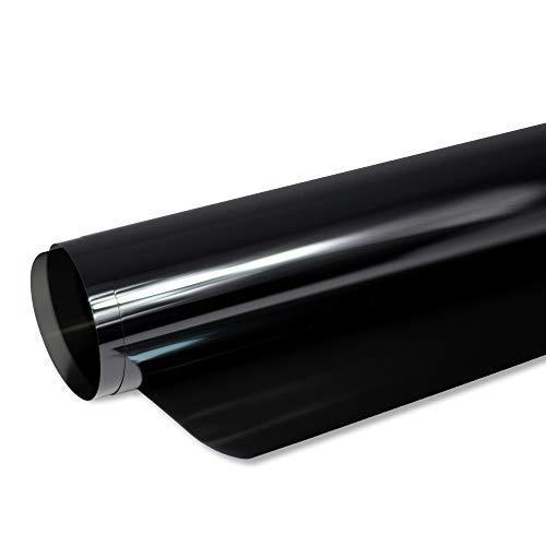 Solar Screen® 6,58€/m² BLACK PLUS Scheibentönungsfolie 85 C Tönungsfolie für Auto Scheiben 85% Schwarz |76 cm Breite inkl. ABG Auto-Tönungsfolie