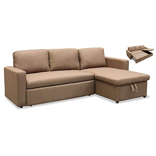 Muebles Baratos Sofa Cama con Chaise Longue, Tres plazas Subida Domicilio, Color...