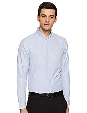 Excalibur by Unlimited Men's Checkered Regular Fit Formal Shirt