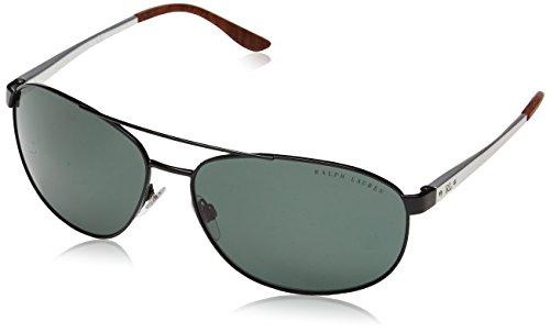 Ralph Lauren Herren Aviator Sonnenbrille Rl 7048, Gr. One Size, Mehrfarbig (Semi Mehrfarbig (Shiny Black, Green)