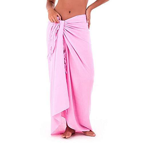 B-commerce Summer Half Rock Womens Multifunktions Solide vertuschen Sarong-Badeanzug vertuschen Kittel Strandkleid (Badeanzug Sarong Vertuschen)