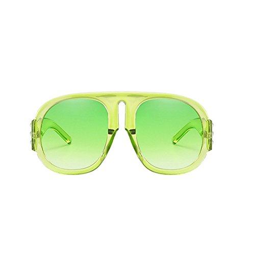 SIMPLEWORD Candy Lens Sonnenbrille Damen Transparente Kunststoff Gläser Übergroßen Sonnenbrille Markendesigner