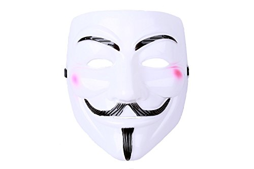 Halloween Cosplay Kostüm V for Vendetta Kunststoff-Maske Guy Fawkes Cool Cosplay Accessories merchandise