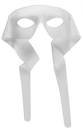shoperama Accessoires für Superhero Herren Kostüm, Maske Weiß (Schwarz Und Weiß Superheld Kostüm)