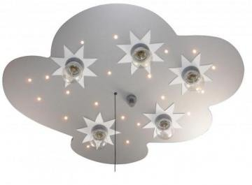 Niermann Deckenleuchte 767, Motiv: Wolke und Sterne, aus Titan