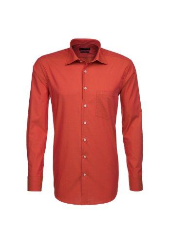 Seidensticker Herren Langarm Hemd UNO Regular Fit orange strukturiert 139030.67 Orange