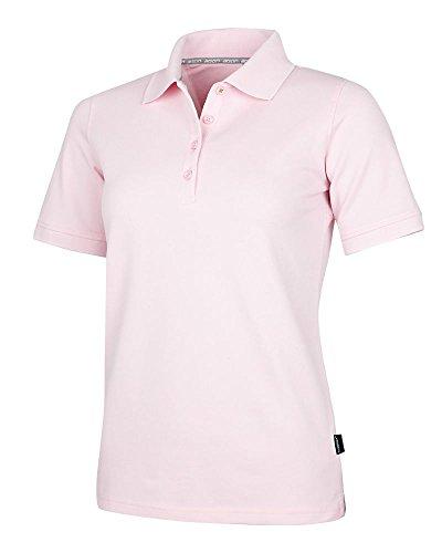 agon - Premium Damen Pique Polo-Shirt, bügelfrei, Coolmax, Coldblack, UV-Schutz, Geruchsblocker, atmungsaktiv, Kurzarm Rose 44/2XL -