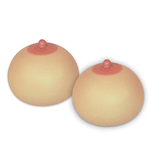 Preisvergleich Produktbild Knetball Brust 2-er Set Antistress-Squeezie Boobs, je Ø 7cm