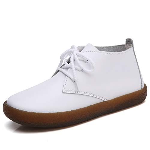 le Boots Mokassins Kurze Stiefel Schuhe Flats Schuhe Runde Zehe Freizeitschuhe ()