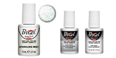 New Sparkling Mist SuperNail ProGel Polish - 14ml + ProGel Base Coat and Top Coat!