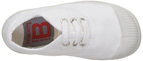 Bensimon Unisex-Kinder Tennis Lacet Enfant Flach Weiß (Weiß)