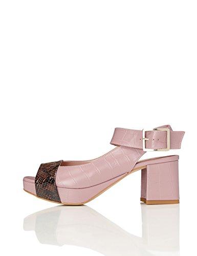 find. Sandalo Con Tacco Donna, Rosa (Pink), 38 EU