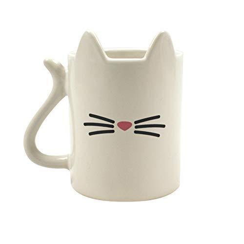 Gift Republic Animal Gato Taza, cerámica