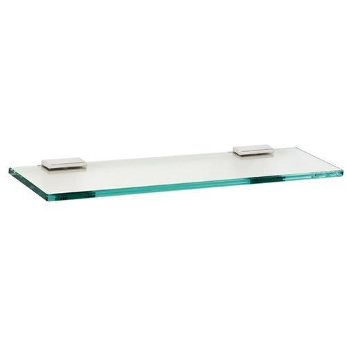 Alno A7550-24-PN Modern Arch Glass Shelf with Brackets, 24, Polished Nickel by Alno -