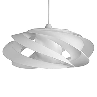 Modern White Designer Style Spiral Ceiling Pendant Light Shade from MiniSun