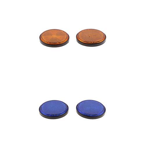 Juego 4 reflectores reflectores catadióptricos universales