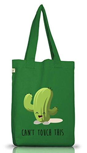Jutebeutel Earth Positive Non Posso Toccare Questo Kaktus Tragetasche Muschio Verde