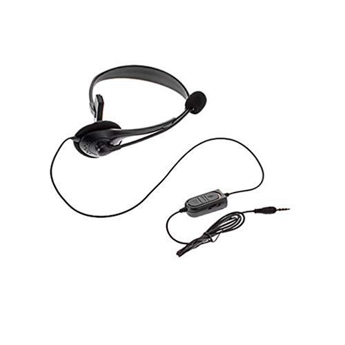 Preisvergleich Produktbild 3, 5-mm-Klinke verdrahtete Kopfhörer Gaming Kopfhörer Noise Cancelling einseitiges Spiel Headset mit Mikrofon für PS4 Game PC