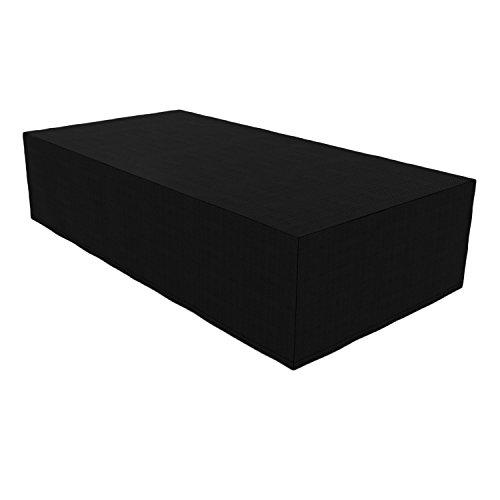 Bâche rectangulaire imperméable et résistante pour table et chaises de terrasse