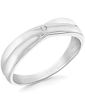 Tuscany Silver Damen-Ring 925 Sterlingsilber Rhodium plattiert Diamant 8.47.8550-p
