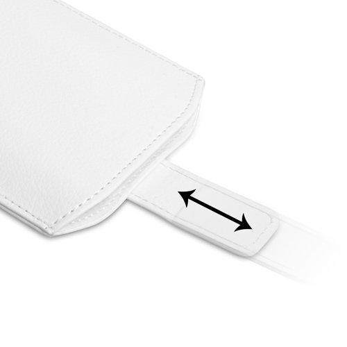 Coque iPhone 5S Etui Blanc Caseflex PU Cuir Pochette Housse Avec Tirez Onglet