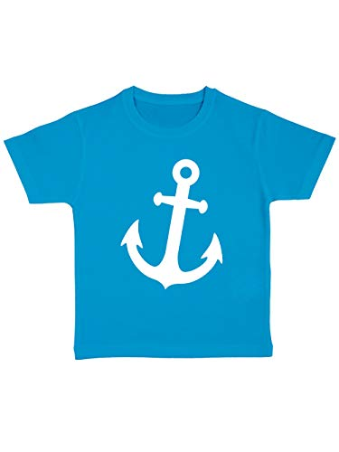 clothinx Kinder T-Shirt Bio Karneval Anker Atoll/Weiß Größe 92