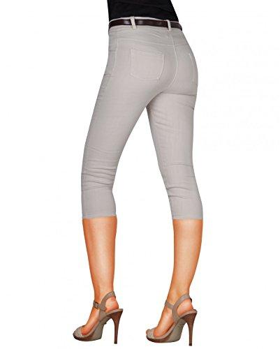 Damen Capri Hose Stoffhose Business inkl. Gürtel (weitere Farben ) Nr. 570 Beige