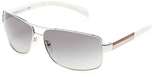 Prada Linea Rossa Herren PS54IS Sonnenbrille, Silber (Silver 1BC3M1), One size (Herstellergröße: 65)
