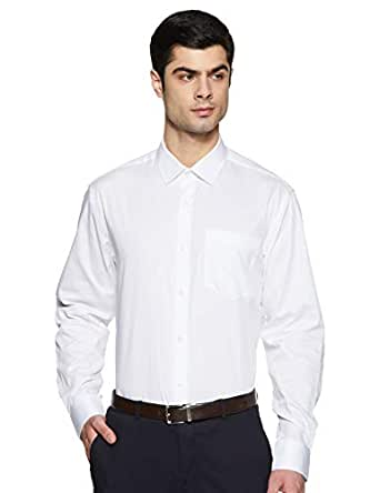 Amazon Brand - Symbol Men's Solid Regular fit Formal Shirt
