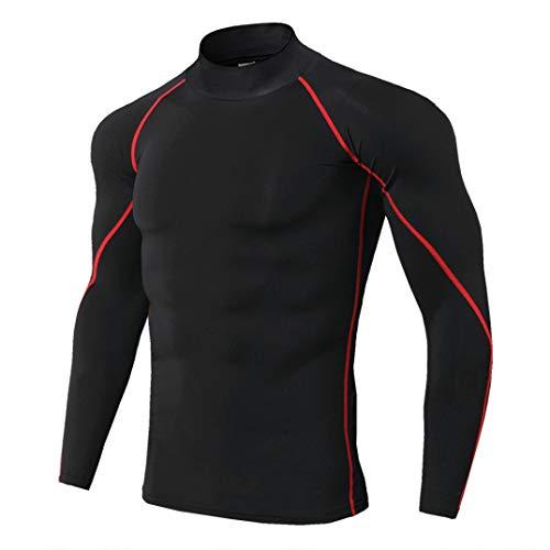 GOUNURE Männer Compression Shirt Abnehmen Body Shaper Tops Unterhemd - Rot Cupid Kostüm