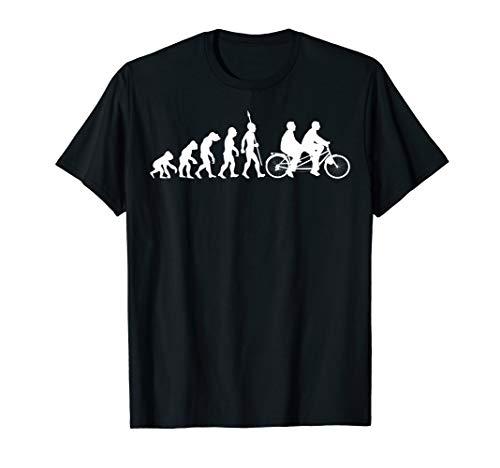 Tandem Fahrrad Evolution Biker Radfahrer Radfahren T-Shirt