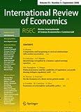 International Review of Economics  Bild