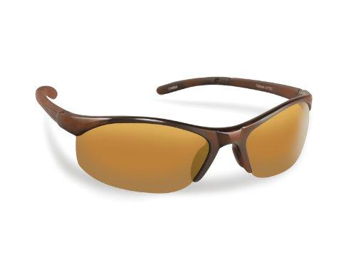 Fliegen Fisherman Fathom Polarisationsbrillen (glänzend Tortoise Rahmen, Amber Gläser)