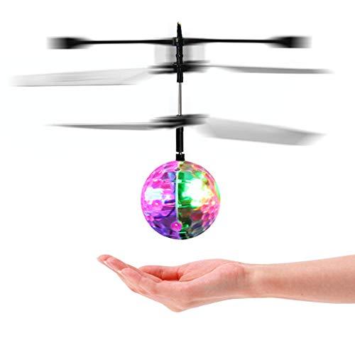 (Cold Toy RC Fliegender Ball mit Schuzbrille und Fernbedienung, LED Flying Ball mit Handsensor Infrarot Mini Hubschrauber Fliegendes Spielzeug, Holloween Spielzeug)