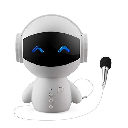 Micrófono Altavoz Bluetooth Estéreo Mini Robot Altavoz Banco De Energía Portátil Altavoz...
