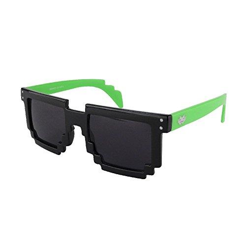 8 BiTS Sonnenbrille / Gamer Glasses / Meme Brille / Youtuber viele Modelle (87352-9003-00000) (Blaue Pixel Sonnenbrille)